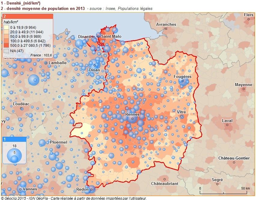map densité des nids km² densité pop 35
